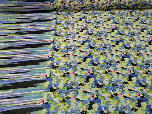 Tela para blusas Viscosa estampado azul