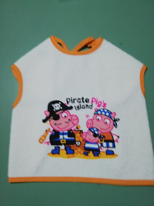 Babero tipo chino Peppa Pig