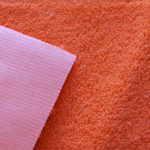 Rizo algodón plastificado por una cara - naranja