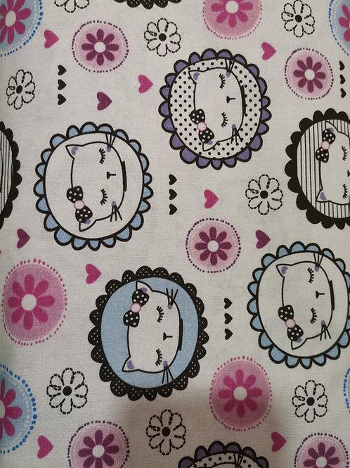 Algodón Pink cats