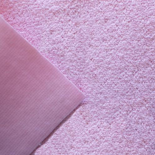 Rizo algodón plastificado por una cara - Rosa
