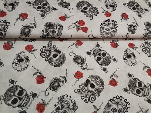 Algodón Skull&Roses