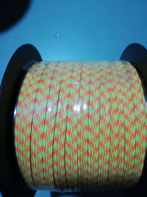 Rollo cinta elástica 6 mm - Fluor 3 - 100 m