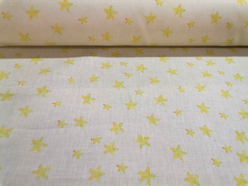 Algodón Yellow stars