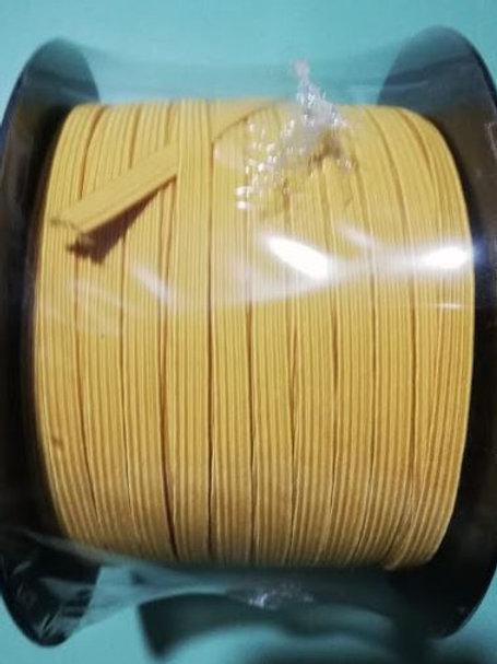 Rollo cinta elástica 6 mm amarilla - 100 m
