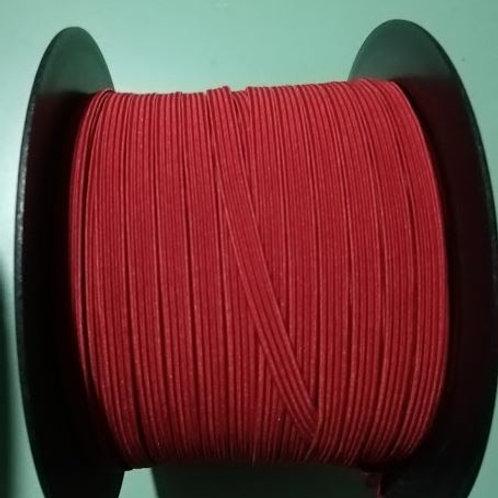 Rollo cinta elástica 6 mm roja - 100 m