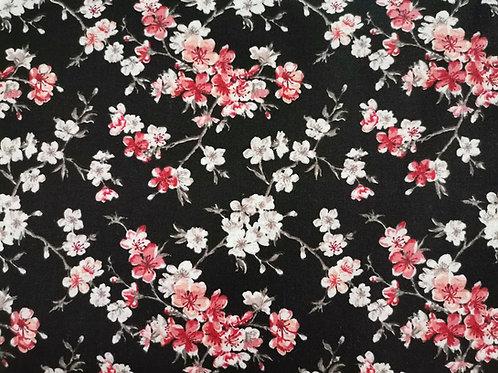 Algodón Sakura negro
