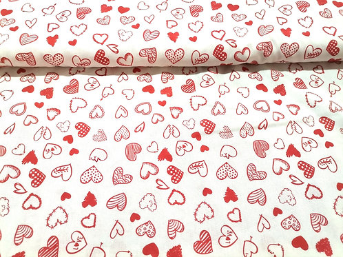 Algodón Red Hearts