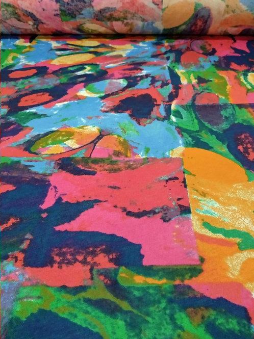 Tela para blusas Viscosa estampado multicolor