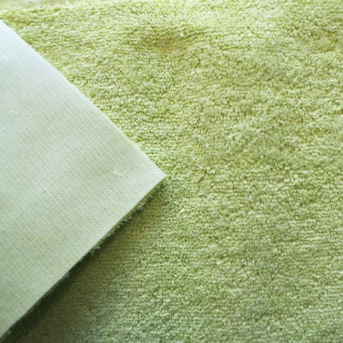 Rizo algodón plastificado por una cara - pistacho