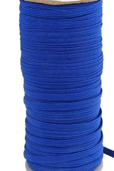 Rollo cinta elástica azul - 6 mm - 100 mts