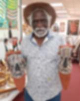 Bede Tungutalum Pukumani head carvings.j