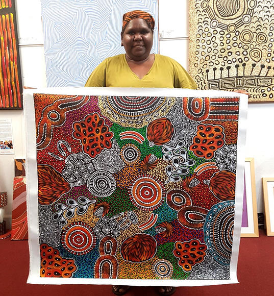 14128 Sharon Numina Aboriginal Artwork A