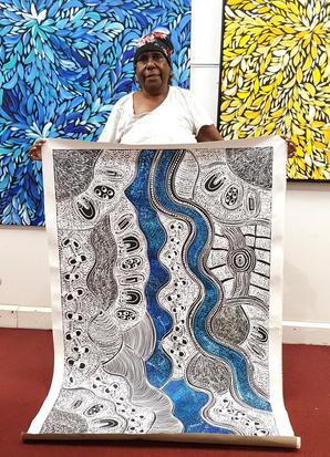 14155 Lanita Numina Aboriginal Artwork A