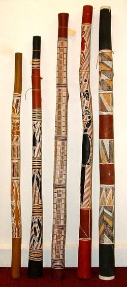 Five didgeridoos