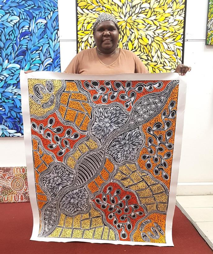 14160 Sharon Numina Aboriginal Artwork A