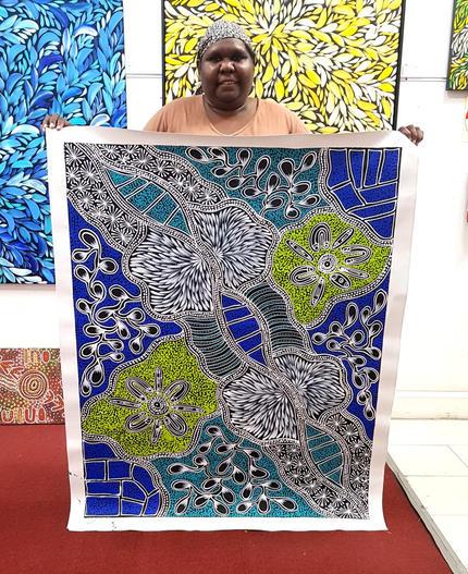 14161 Sharon Numina Aboriginal Artwork A