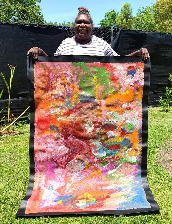 14084 Louise Numina Aboriginal Artwork A
