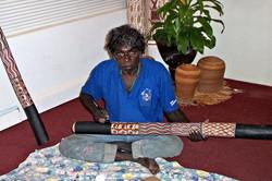Aboriginal Artist and Didgeridoo