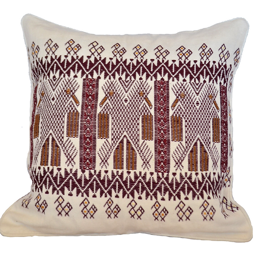 Three eagles Pillow - wine red