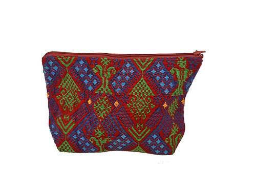 Up-cycled pouch - blue bird