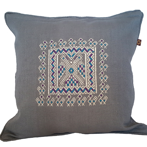 Eagle Embroidery Pillow - gray