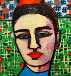 Nina - 110cm x 95cm, Oil on Canvas