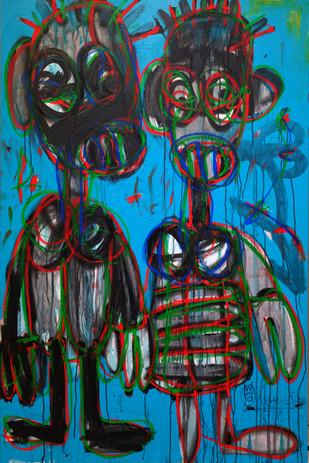 Aboudia Nouchi Graffiti Grele Series
