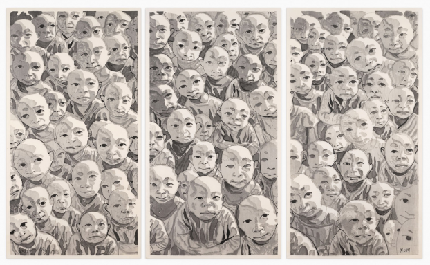 Untitled Crowd Triptych