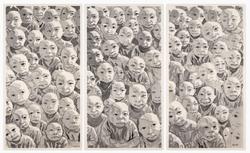 Untitled Crowd Triptych