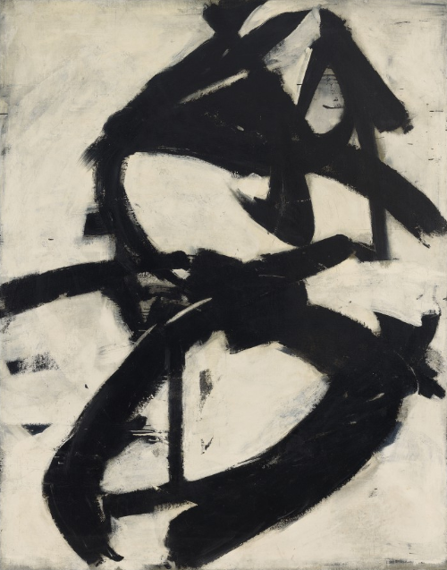 Franz Kline, Figure 8, 1952. Photo Credit: Anderson Collection, Stanford University