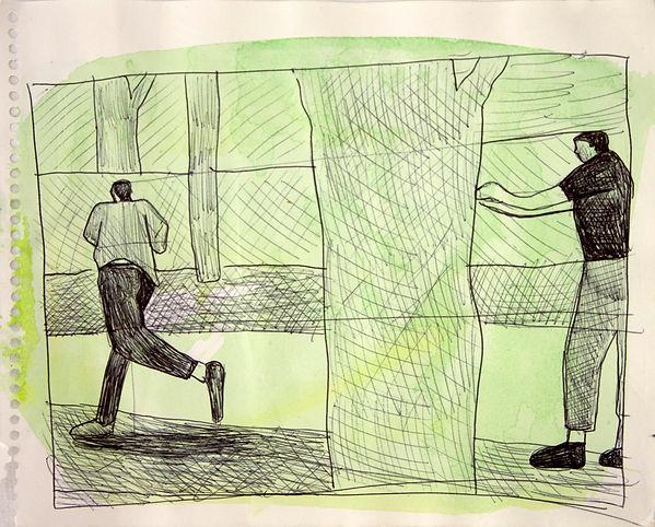 Jeffrey Hargrave Black Man Running from