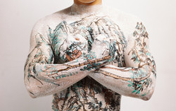 Chinese Shan-shui tattoo 1