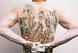 Chinese Shan-shui tattoo 7