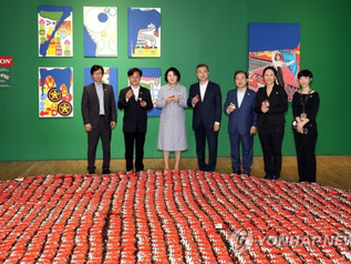 "Mina Cheon's ""Eat Choco·Pie Together"" Take a Bite for Peace, Art for Healing, Koreas U"