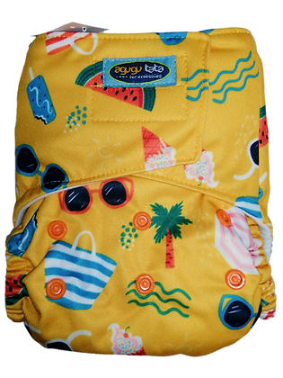 (Distribuidoras) Pañal Agugutata Estampado Playa