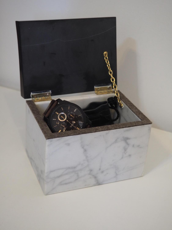 Boîte à bijoux duo marbre