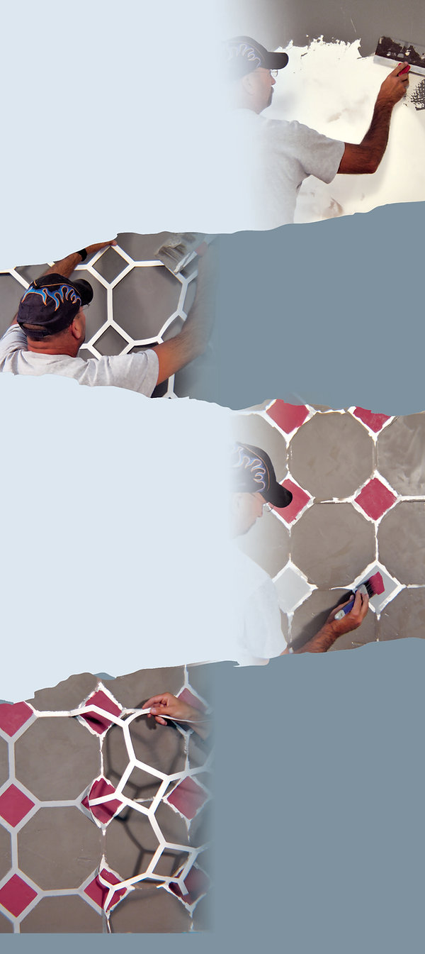 How to apply drywall stencils in 4 easy steps