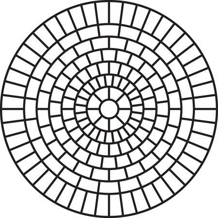 Large Brick Rosette