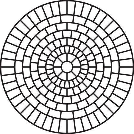 Medium Brick Rosette