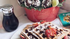 Gluten Free Chocolate Strawberry Waffles
