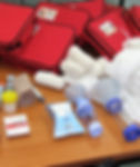 provide first aid, equipment, training