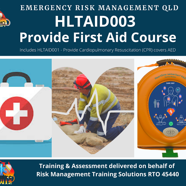 HLTAID003 - PROVIDE FIRST AID -  Sunshine Coast (1)