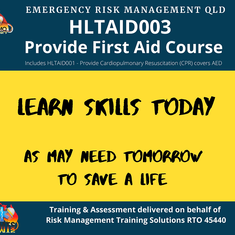 HLTAID003 - PROVIDE FIRST AID -  Sunshine Coast