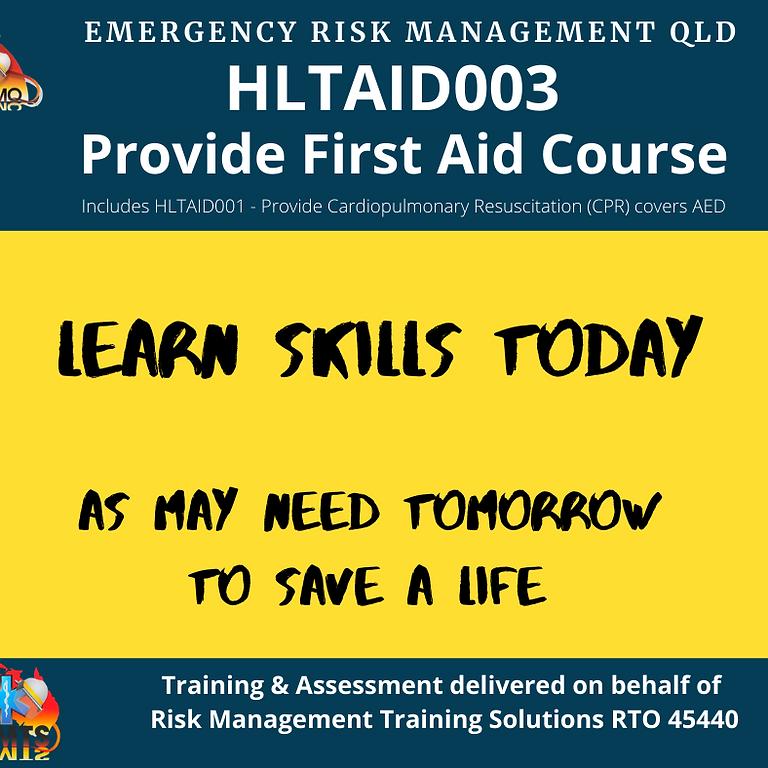HLTAID003 - PROVIDE FIRST AID -  Sunshine Coast