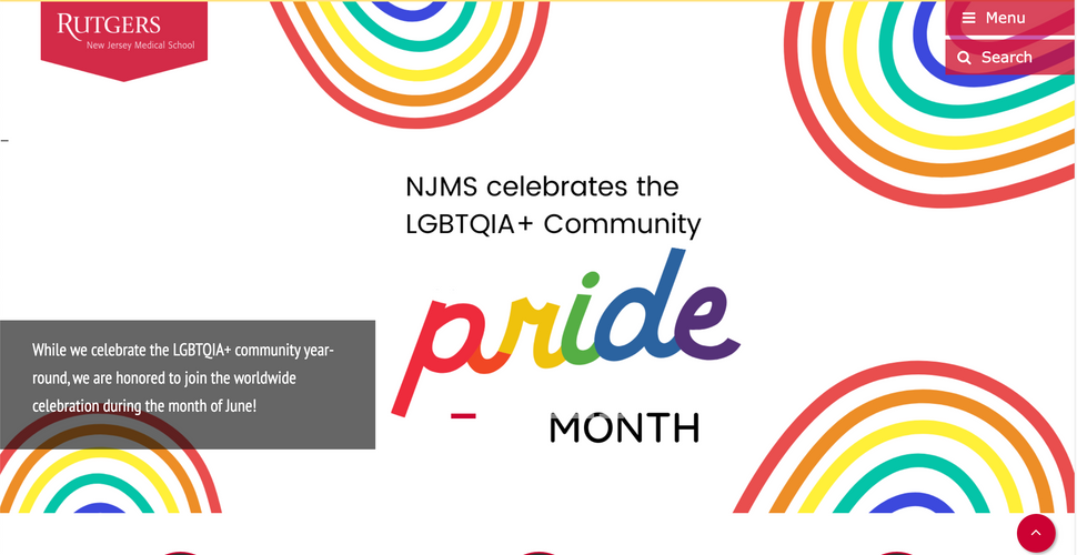 Pride Month Homepage Banner