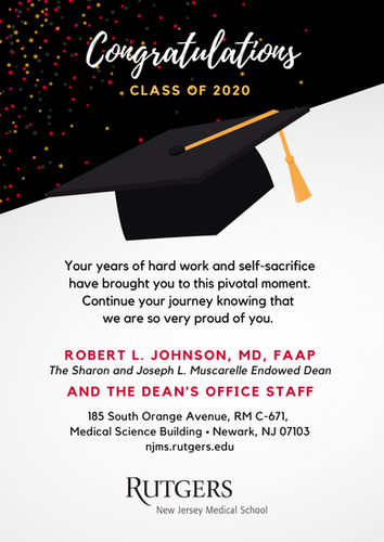 Dean Yearbook Convocation Message