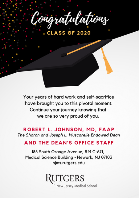 Convocation 2020 Yearbook Message from the Dean