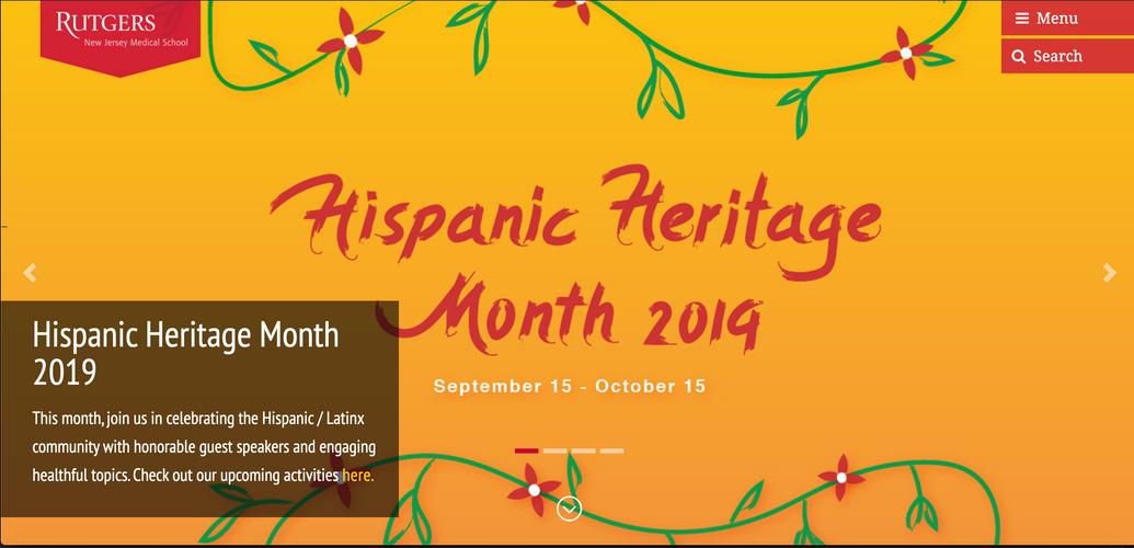 Hispanic Heritage Month Homepage Banner