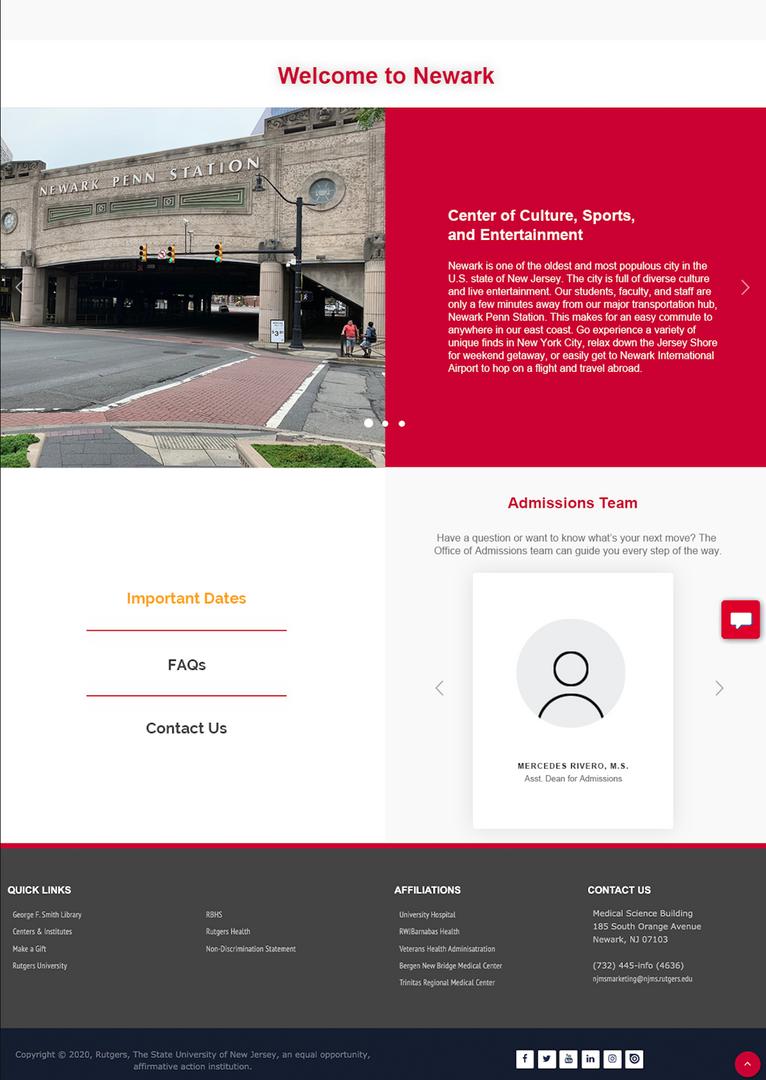 Newark, Helpful Links, Admissions Team.p
